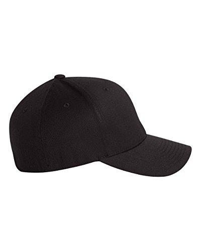 Flexfit Men's Athletic Baseball Fitted Cap, Black, Extra Large