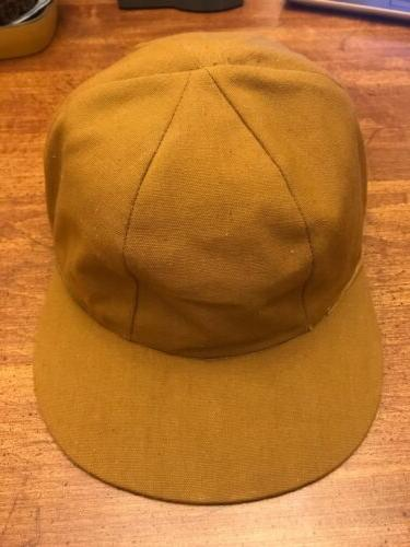 awesome vintage canvas fitted hunting hat