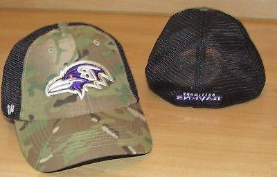 Baltimore Ravens Camo Mesh Back Flex Fitted Hat Cap Men's si