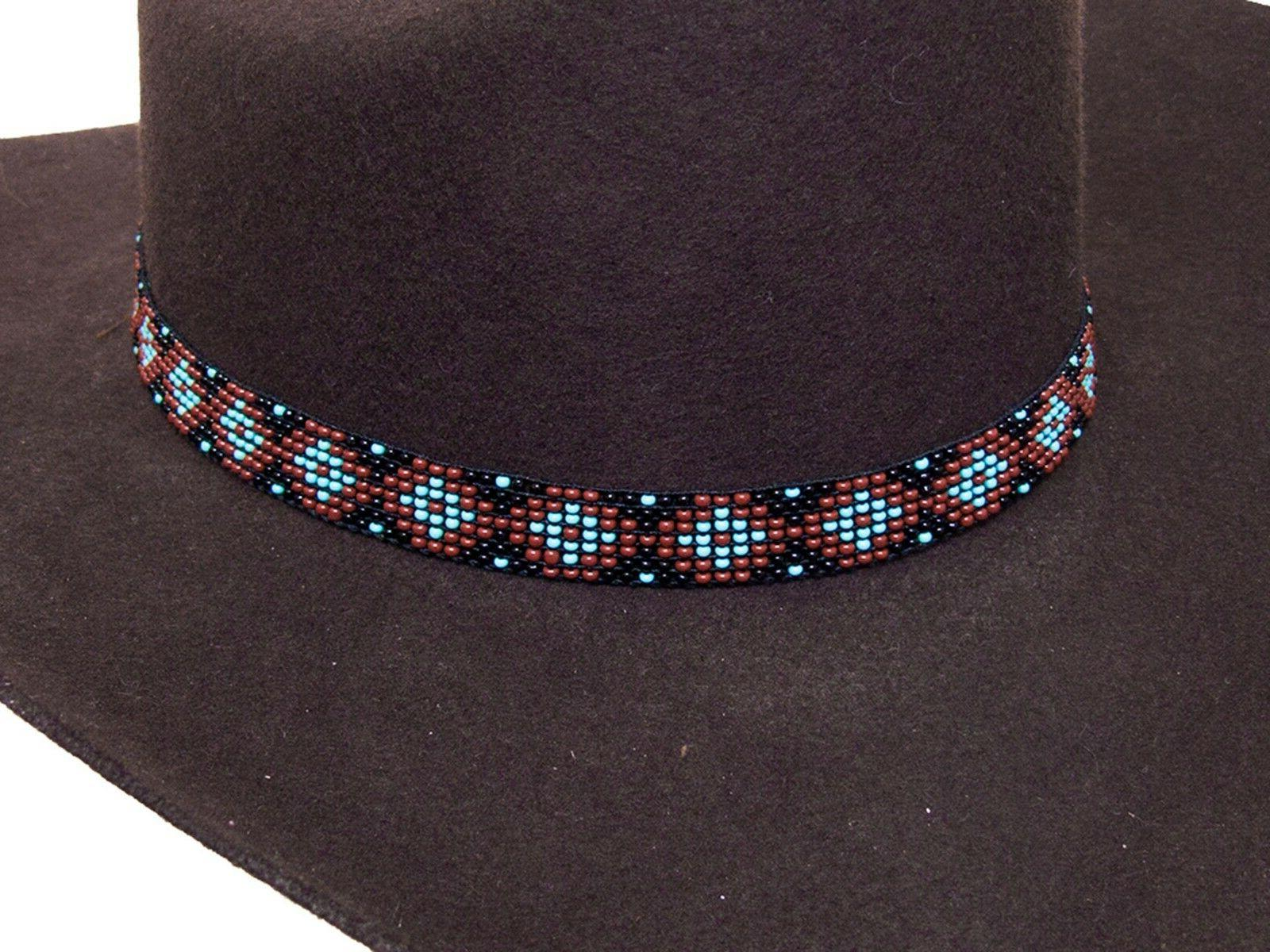 beaded cowboy hat band stretch fit diamond