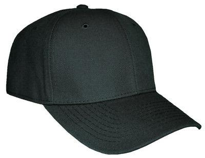 blank fitted curved cap hat