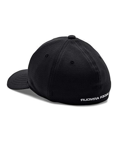 Under Armour Boys' II Stretch Cap, Black /White,