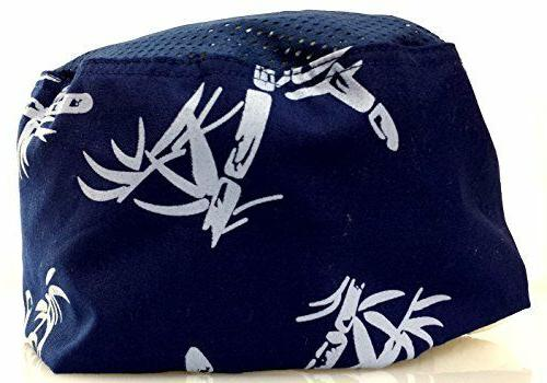 blue bamboo mesh chef hat