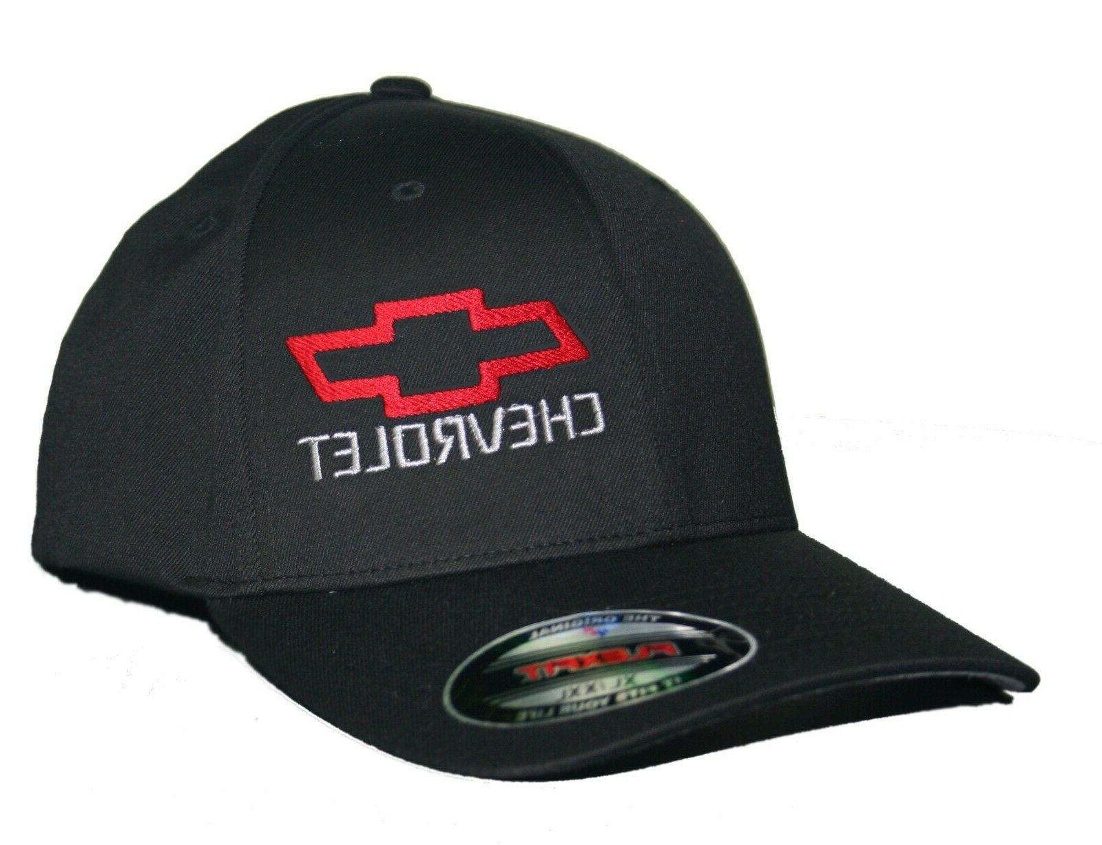 bowtie hat cap fitted curved bill chevrolet