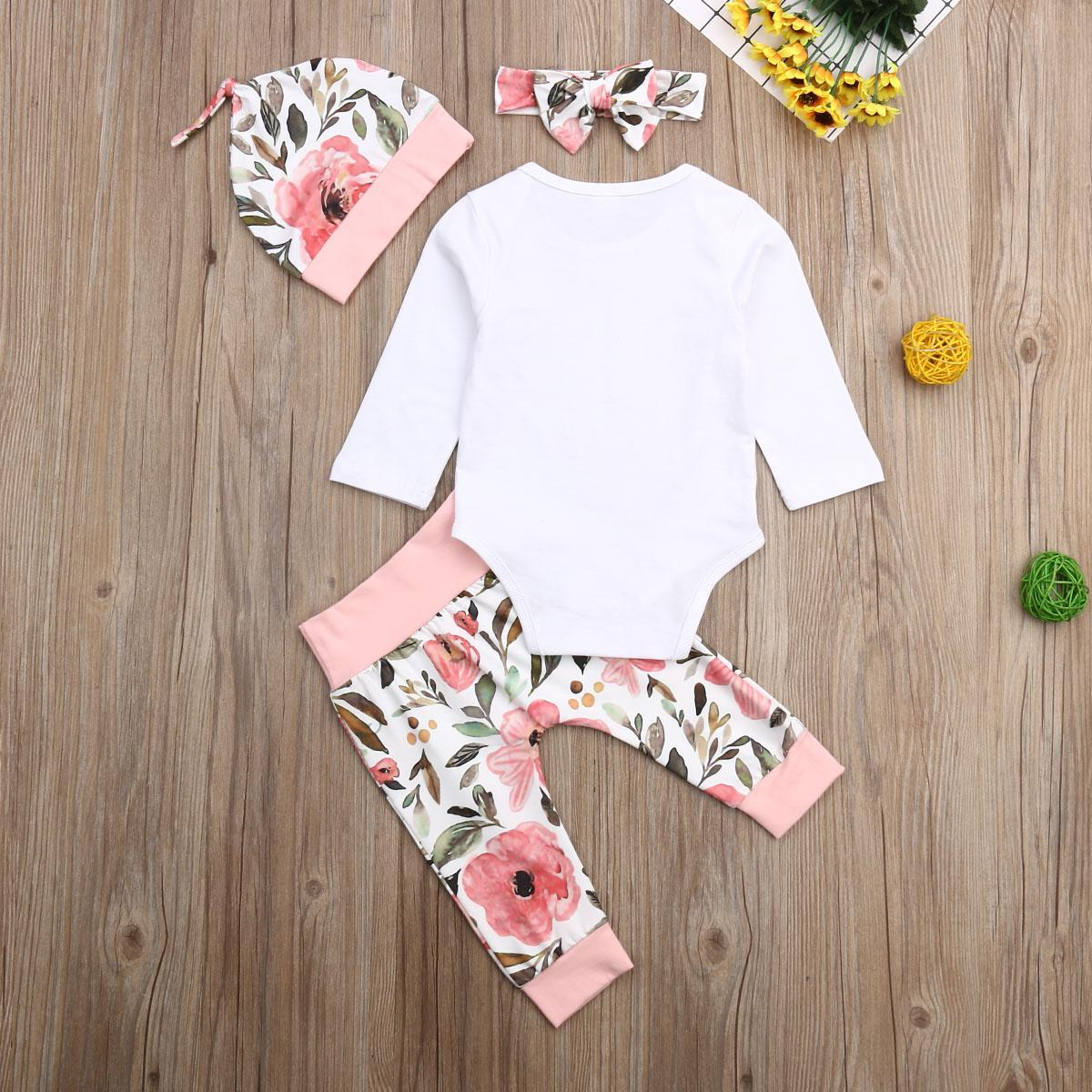 Brand Baby Long Flower Bow <font><b>Hat</b></font> 4pcs kids cotton lovely Autumn