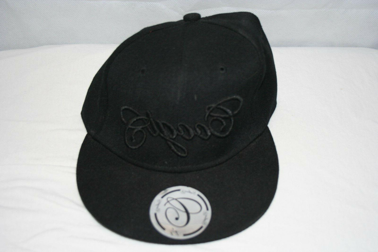 cap black fitted hat size 7 1