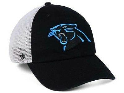 Carolina Panthers NFL 47 Brand Mesh Closer Stretch Fitted Ha