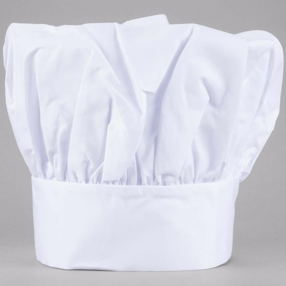 chef hat white cloth one size fit