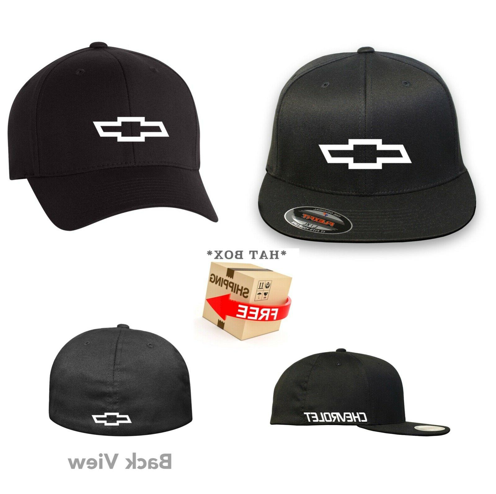 chevy chevrolet flex fit hat curved or