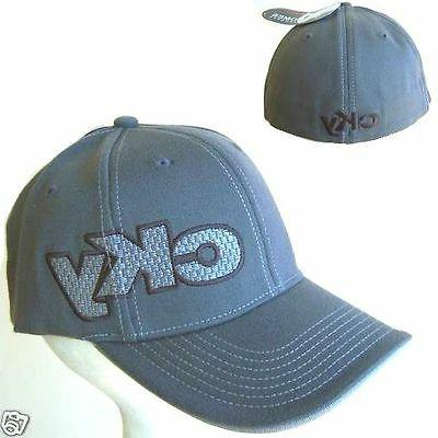 cky embroidered logo grey fitted baseball hat