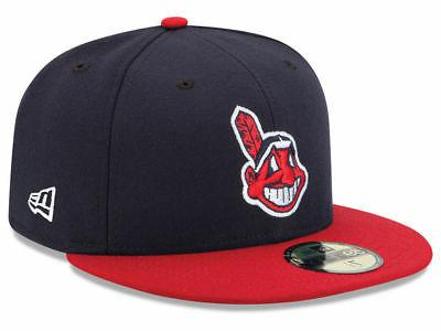 7612085acb2 New Era 5950 Cleveland Indians HOME 2018 Fitted Hat MLB Cap