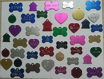 CUSTOM ENGRAVED PERSONALIZED PET TAG ID DOG CAT NAME TAGS SI