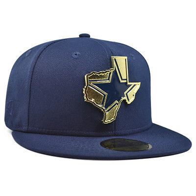 dallas cowboys gold stated fitted 59fifty navy
