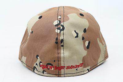 Camo Black Red White NHL New Fitted Hat Cap