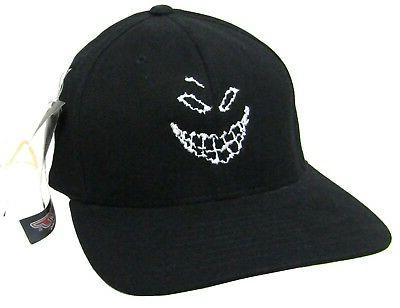 disturbed scary guy face fitted black baseball