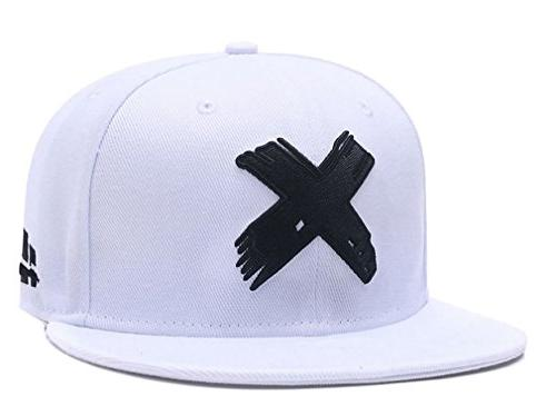 embroidered x snapback hats for men