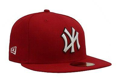 New Era Fitted Cap 59Fifty New York Yankees Red White Black