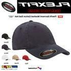 FLEXFIT Fitted College Hat Washed Cotton Dad Cap Blank Low P