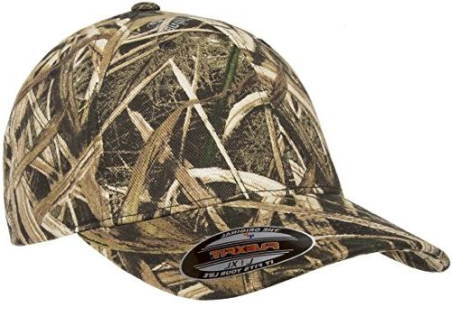 fitted low profile mossy oak camo cotton