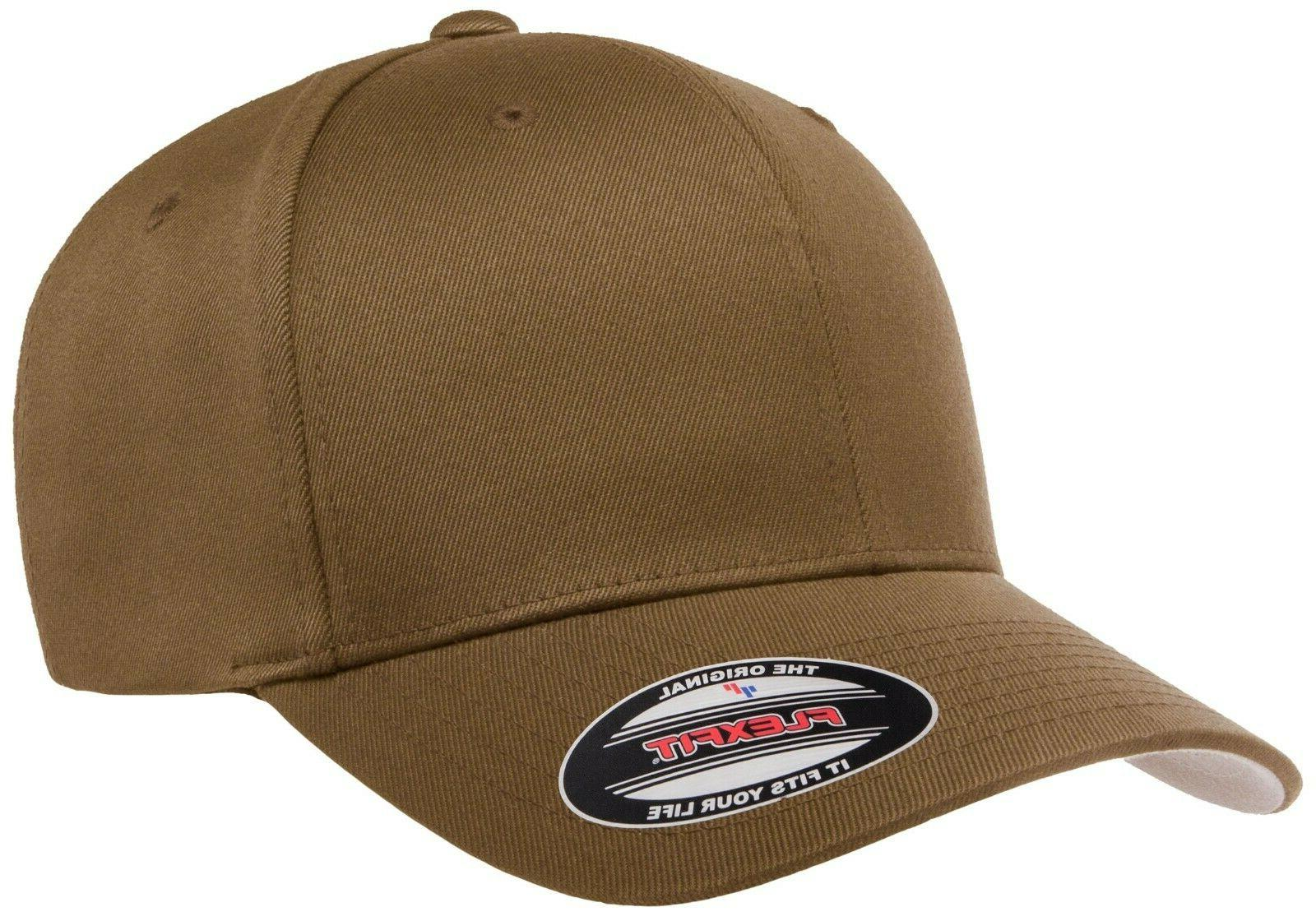 flexfit coyote brown fitted hat or adjustable
