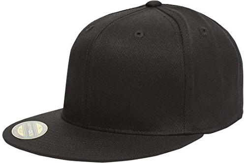 Flat Bill Cap, Black, Small/Medium