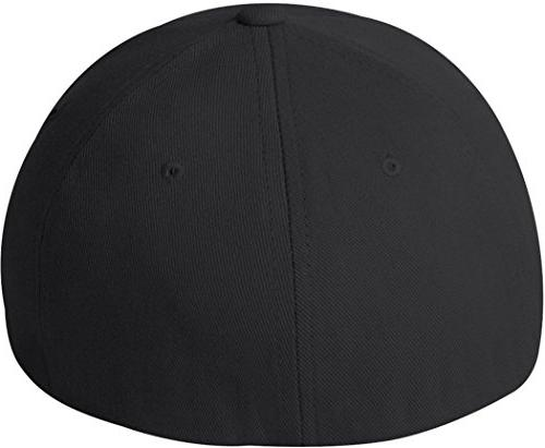 Flexfit/Yupoong Athletic Baseball Fitted Black, Extra Large