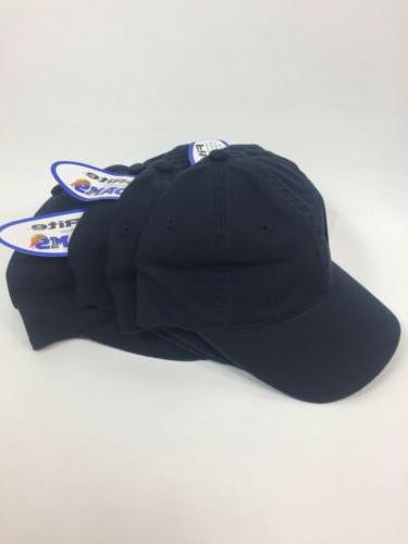 four navy blue fit rite baseball hat