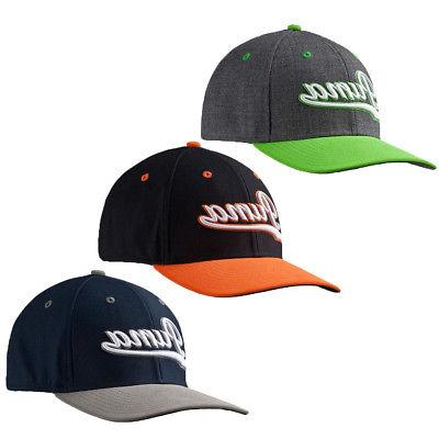 golf script fitted cap hat 052960 select