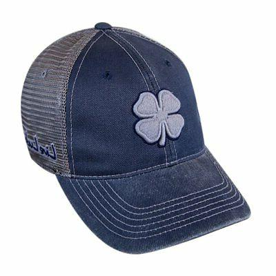Black Clover Golf Vintage Luck Mesh 3 Cap Hat - Grey/Navy -