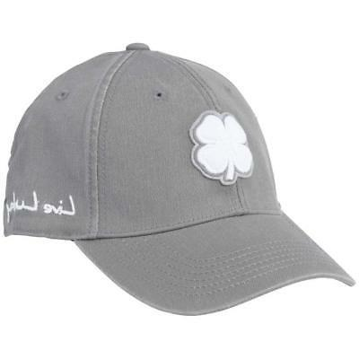 Black Clover Golf Vintage Luck Two #1 Cap Hat Charcoal