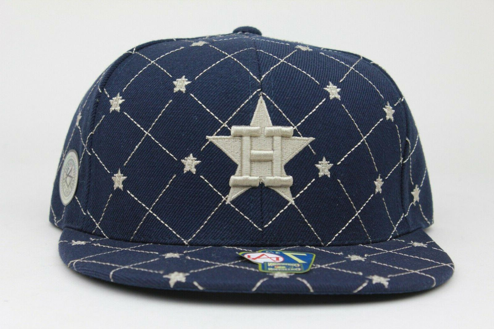 houston astros navy star cooperstown fitted hat