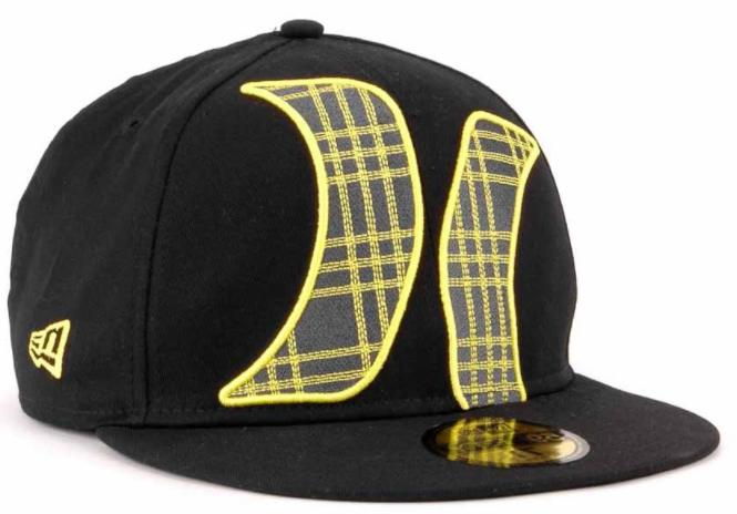 Hurley Townser Black Yellow Gray New Era 59FIFTY Fitted Cap