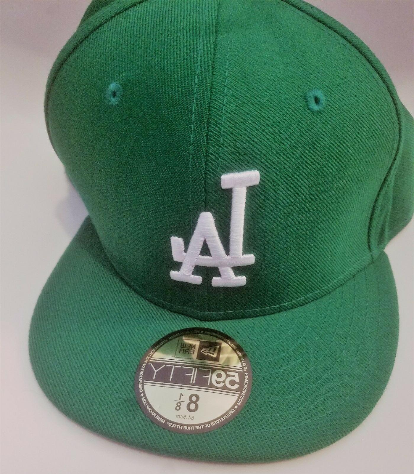 la dodgers 59fifty fitted cap hat green