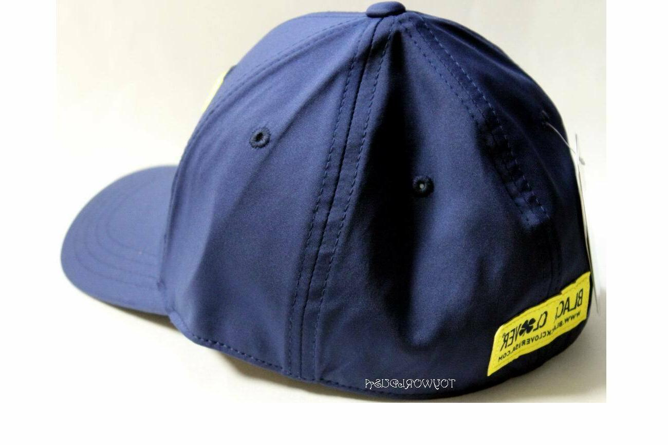 Black #14 Fitted/Stretch L/XL Navy/Yellow