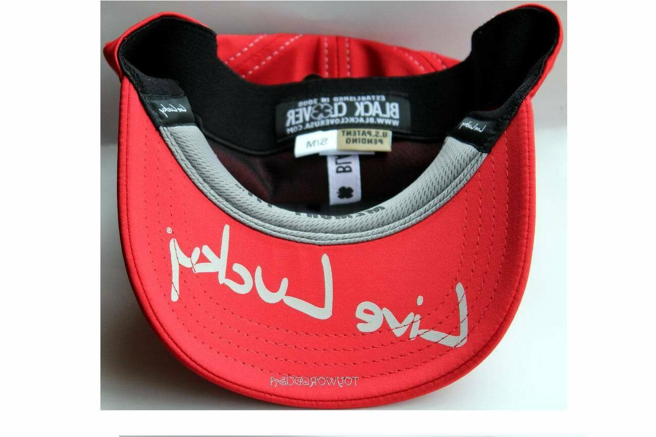 #48 Fitted/Stretch Baseball Hat/Cap S/M Red