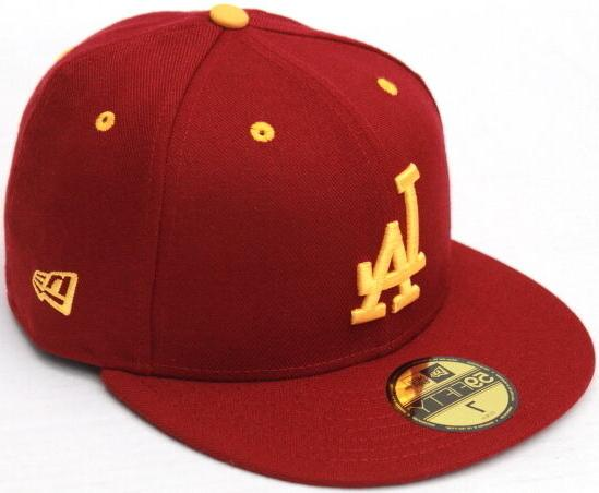 Los Angeles Dodgers in USC Colors Cardinal and Gold New Era