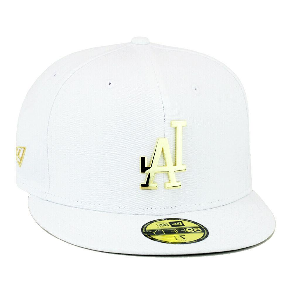 los angeles la dodgers fitted hat white