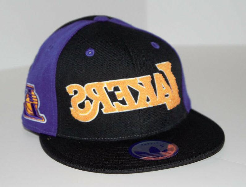 Los Angeles LA Lakers Fitted New Adidas Flat Brim