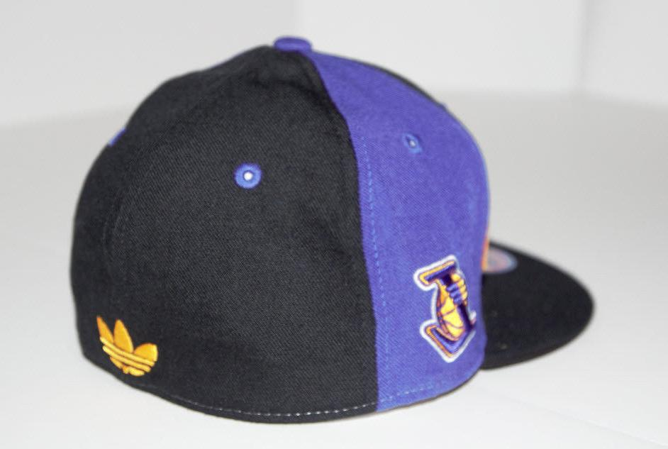 Los Lakers Hat LA Lakers New Adidas Black Size