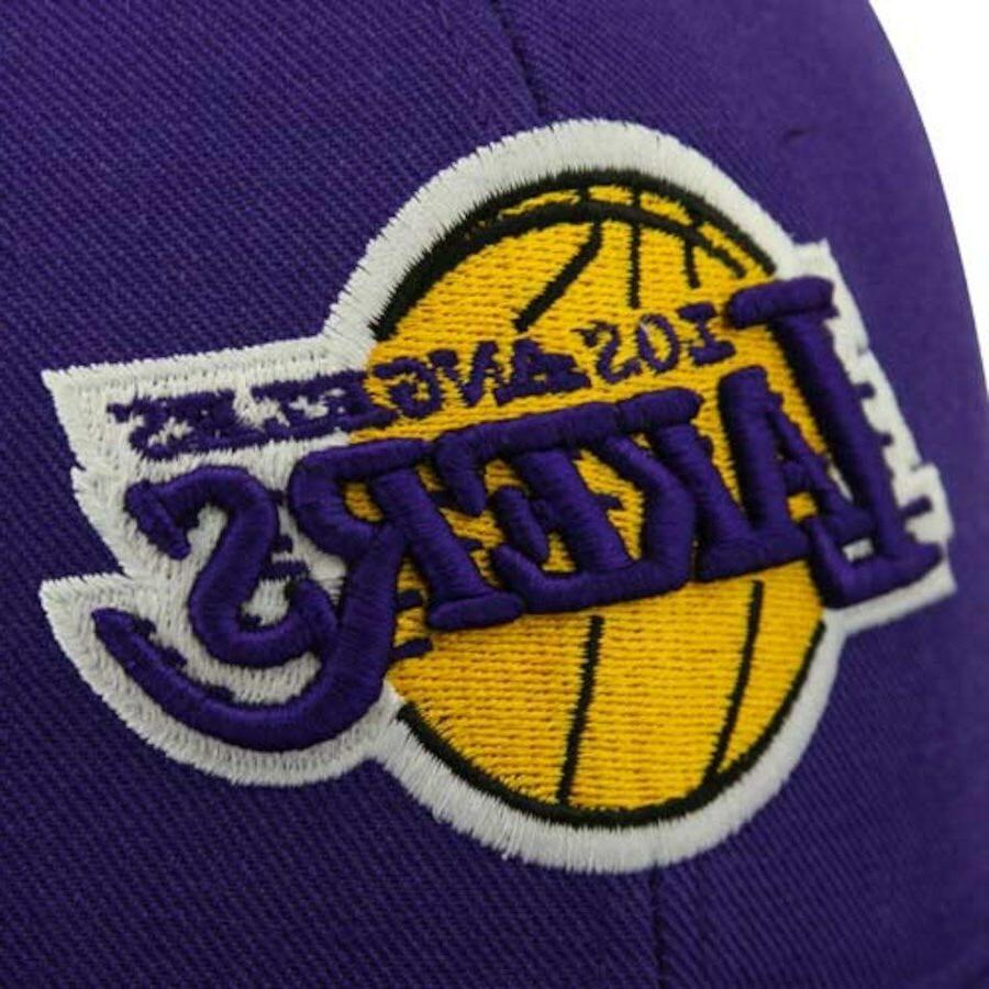 Los Angeles Lakers Hat New Fitted Brim Purple Pick