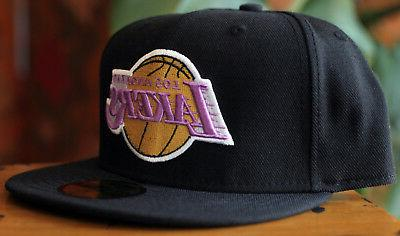 Los Angeles Lakers LA 59Fifty New Era Fitted Black Size 7 1/2