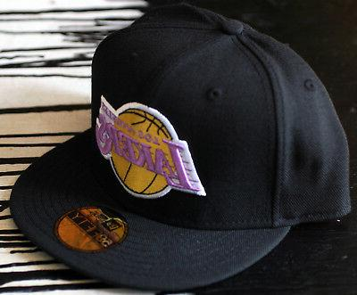 Los Lakers 59Fifty New Black Size 7 1/2