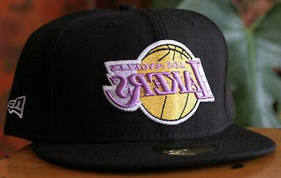 Los Angeles Lakers 59Fifty New Black NBA Hat Size 7 1/2