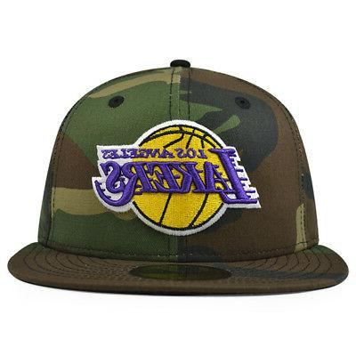Los Angeles Lakers WOODLAND CAMO FITTED 59Fifty New Era NBA