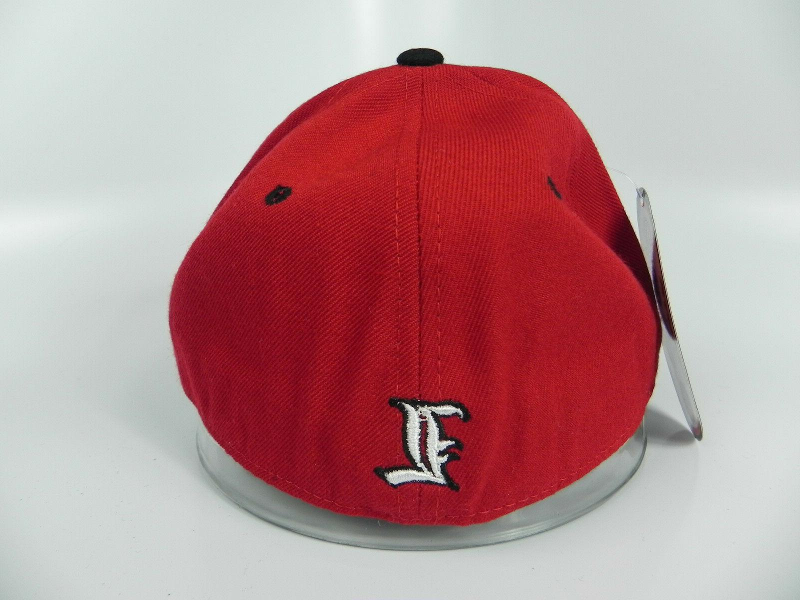 LOUISVILLE CARDINALS RED VINTAGE FITTED DH CAP HAT