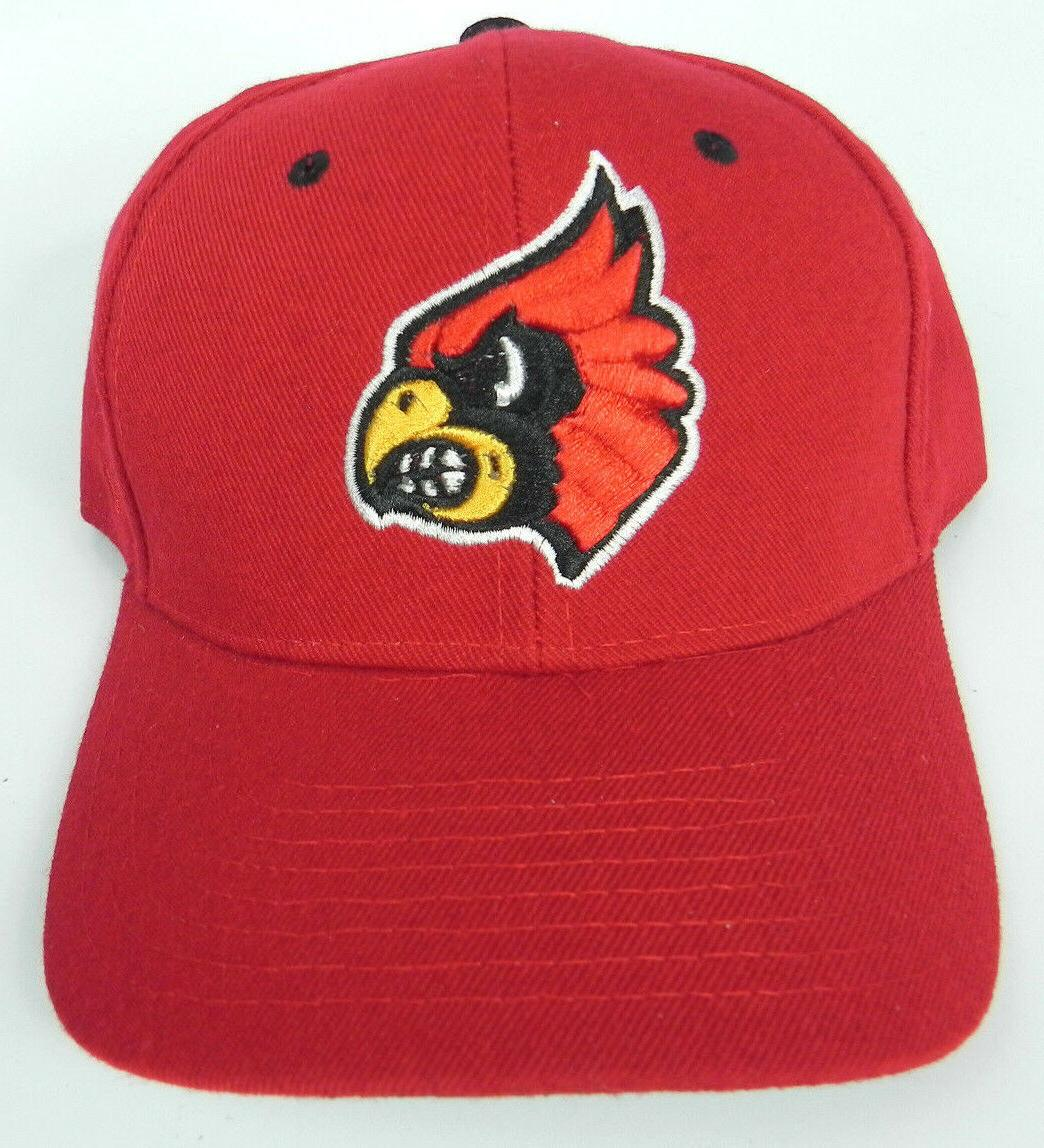 louisville cardinals red ncaa vintage fitted sized