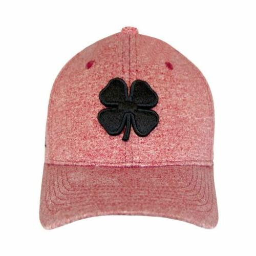 lucky heather rojo fitted hat red