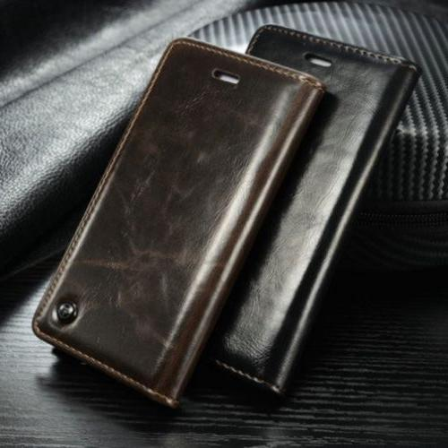 Luxury Leather Wallet Case Magnetic Flip Cover Stand For iPh