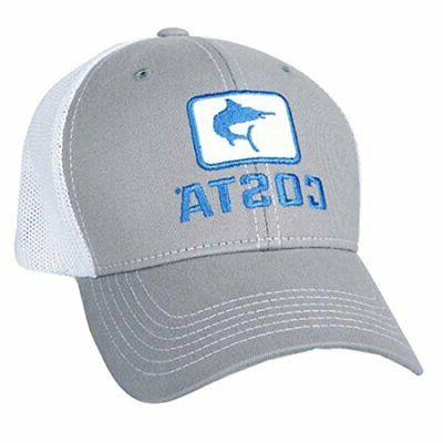 marlin fitted stretch trucker hat gray white