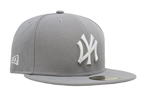 men s 59fifty york yankees gray white